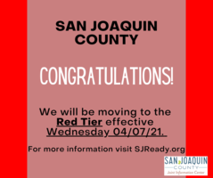 San Joaquin County - Red Tier