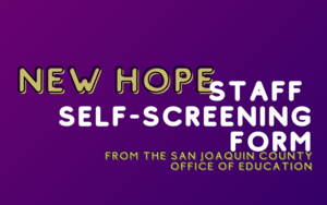 New Hope Staff Self-Screening Tool