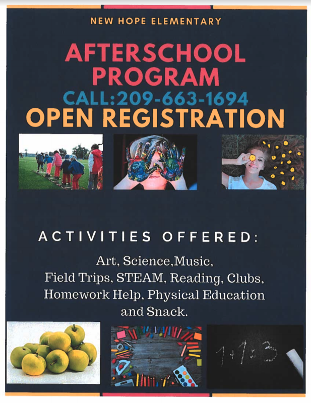 After School Program Registration- English